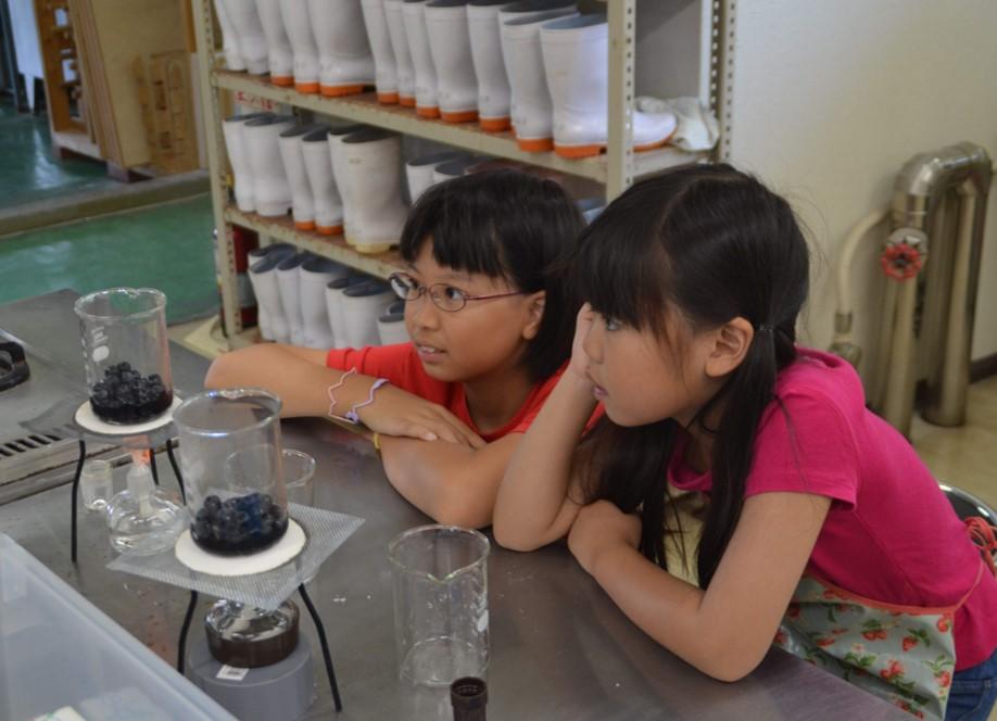 畑の科学教室の様子